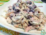 Салат с жареными грибами с копченой курицей и – День 270. Салат с копченой курицей и жареными грибами. Салат с курицей копченой и жареными грибами
