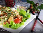 Салат теплый с курицей и овощами – Теплый салат с курицей болгарским перцем и огурцами, рецепт с фото очень вкусный
