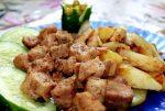 Свинина с картошкой жареная в мультиварке – Жареный картофель со свининой в мультиварке.