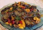 Рецепт баклажанов с шампиньонами на зиму – Простой салат с баклажанами и шампиньонами