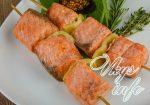 Рыбный шашлык в духовке на шпажках – Шашлык из рыбы на шпажках