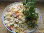Салат с крабовыми палочками с кукурузой и грибами – Салат с крабовыми палочками и грибами пошаговый рецепт быстро и просто от Екатерины Лыфарь