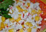 Салат с красной фасолью и с крабовыми палочками – Крабовый салат с фасолью пошаговый рецепт быстро и просто от Риды Хасановой