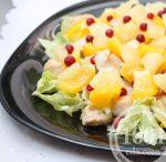Салат с куриной грудкой и ананасом и грецкими орехами – пошаговый рецепт, быстро и просто от Марины Выходцевой