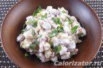 Салат с сухариками и фасолью рецепт с фото колбасой – Салат с фасолью, колбасой и сухариками – калорийность, состав, описание
