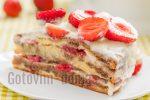 Торт с заварным кремом с клубникой – Торт склубникой изаварным кремом – рецепт с фото, рецепт приготовления в домашних условиях