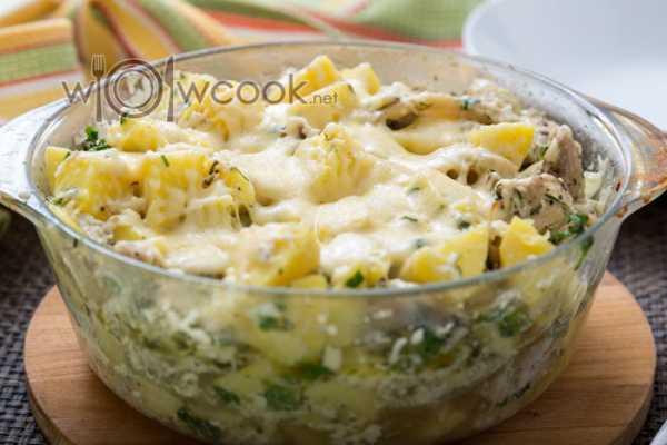 Картофель с грибами в сливках - пошаговый рецепт с фото